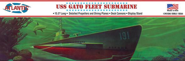 USS Gato Fleet Submarine 1/240 plastic model kit