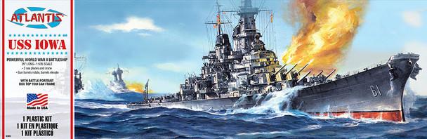 USS Iowa Big Battleship BB-61 Plastic Model Kit Atlantis