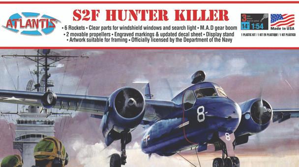 Grumman US NAVY S2F Tracker Hunter Killer Plastic Model kit 1/54