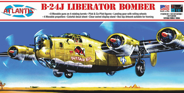 B-24J Liberator Bomber Buffalo Bill Plastic Model Kit 1/92