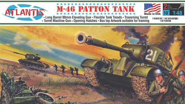 M-46 Patton Tank Plastic model kit 1/48