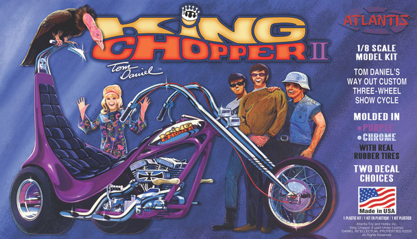 Tom Daniel  King Chopper II 1/8 Plastic Model kit with Free Flexi-File