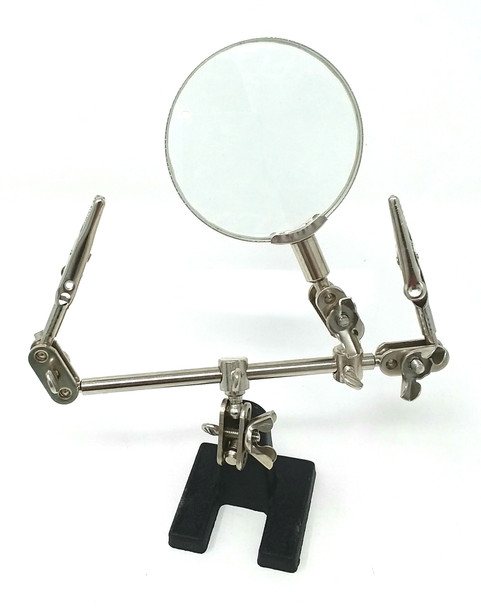 Modelers Helping Hands with Magnifier