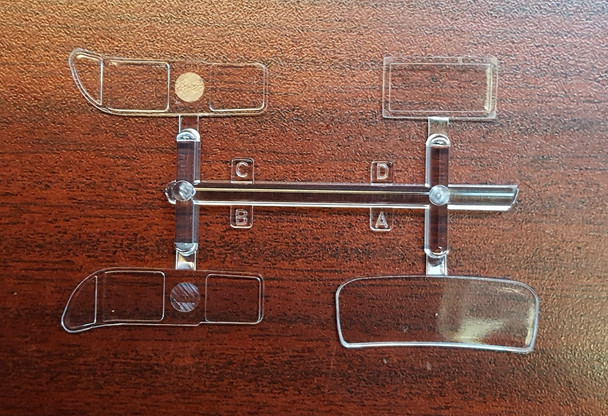 Clear parts for the Vintage Gas Truck Model kit