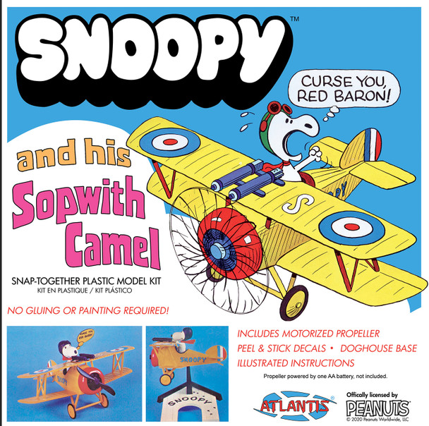 PREORDER Snoopy and his Sopwith Camel with Motor SNAP