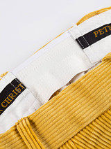 Close Up of Mens Corn Yellow Corduroy Trousers Fabric