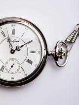 Chrome Half Hunter Pocket Watch