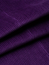 Close Up of Mens Purple Corduroy Trousers Fabric