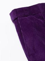 Close Up of Mens Purple Corduroy Trousers Pocket Detail