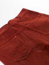 Close Up of Chestnut Red Needle Cord Jeans Pockets