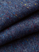 Close Up of Blue Fine Donegal Tweed Trousers Fabric