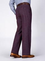 Rear Image of Purple Burdock Harris Tweed Trousers