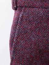 Close Up of Purple Burdock Harris Tweed Trousers Fabric