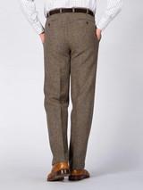 Rear Image of Lichen Green Harris Tweed Trousers