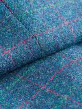 Close Up of Marine Blue Harris Tweed Trousers Fabric