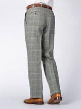 Rear Image of Mist Blue Harris Tweed Trousers