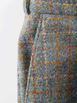 Close Up of Mist Blue Harris Tweed Trousers Pocket