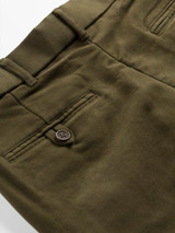 Close Up of Pine Green Moleskin Trousers Pocket