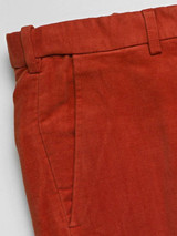 Close Up of Fox Red Moleskin Trousers Fabric