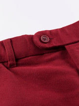Close Up of Mulberry Red Moleskin Trousers Details