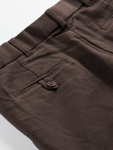 Close Up of Chocolate Brown Moleskin Trousers Fabric