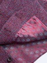 Close Up of Burdock Purple Harris Tweed Waistcoat Fabric