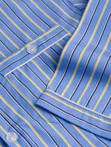 Close Up of Mens Blue Organic Cotton Nightshirt Detail