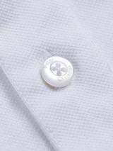 Close Up of White Original Polo Shirt Fabric