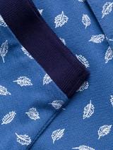 Close Up of Blue Leaf Original Polo Shirt Detail