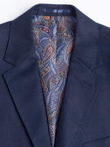 Paisley Buggy Lining on Navy Linen Jacket