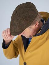 Close Up Image of Harris Tweed Baker Boy Cap