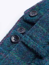 Close Up of Marine Blue Harris Tweed 3 Piece Trousers Waistband