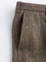 Close Up of Bracken Brown Harris Tweed Trousers Pocket Detail