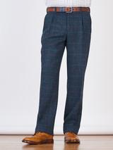 Image of Slate Blue Harris Tweed 3 Piece Suit Trousers