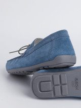 Close Up of Mens Blue Geox Tivoli Moccasin Shoe