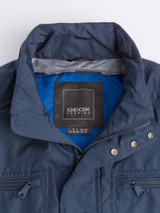 Close Up of Navy Blue Geox Renny Jacket Collar