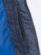 Close Up of Navy Blue Geox Renny Jacket Zip