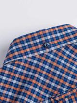 Close Up of Blue Ben Sherman House Check Shirt Collar