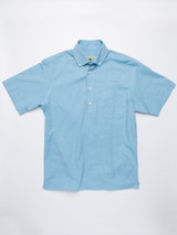 Turquoise Short Sleeve Popover Shirt
