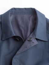 Close Up of Check/Navy Weatherwear Reversible Raincoat Collar