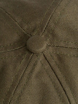 Close Up of Mens Green Cotton Baseball Cap Fabric