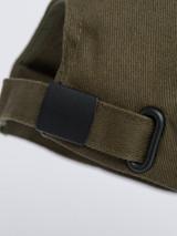 Close Up of Mens Green Cotton Baseball Cap Strap