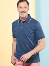 Model Wearing Blue Dot Original Polo Shirt