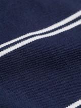 Close Up of Blue Dot Original Polo Shirt Fabric