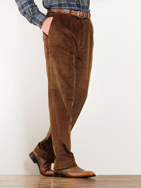 Image of Mens Toffee Brown Corduroy Trousers