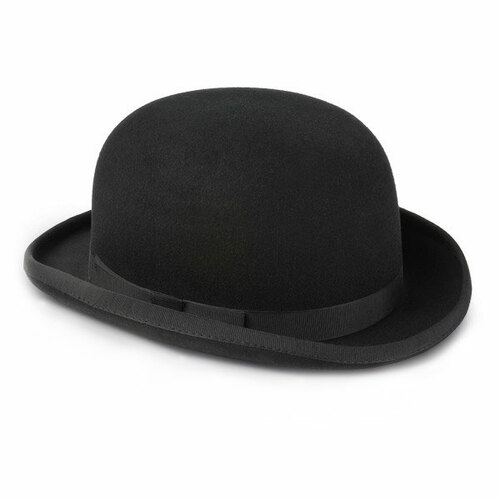 Image of Mens Black Bowler Hat