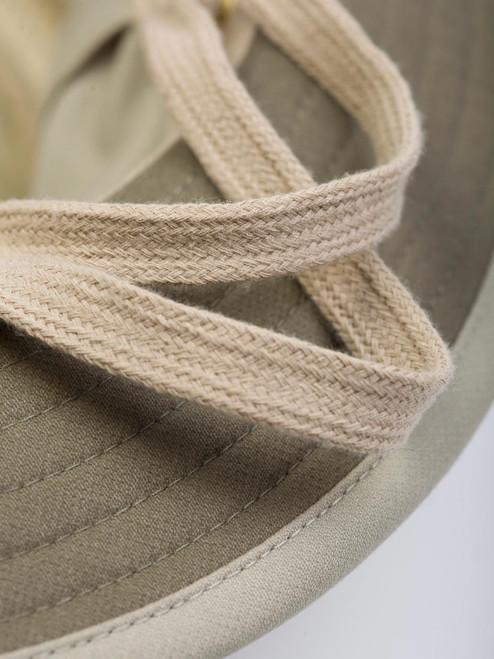 Close Up of Mens Tilley Hat Ties