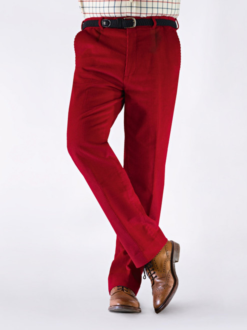 Image of Mens Red Corduroy Trousers