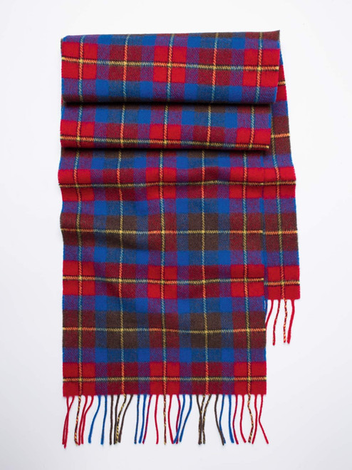 Scarlet Check Lambswool Scarf