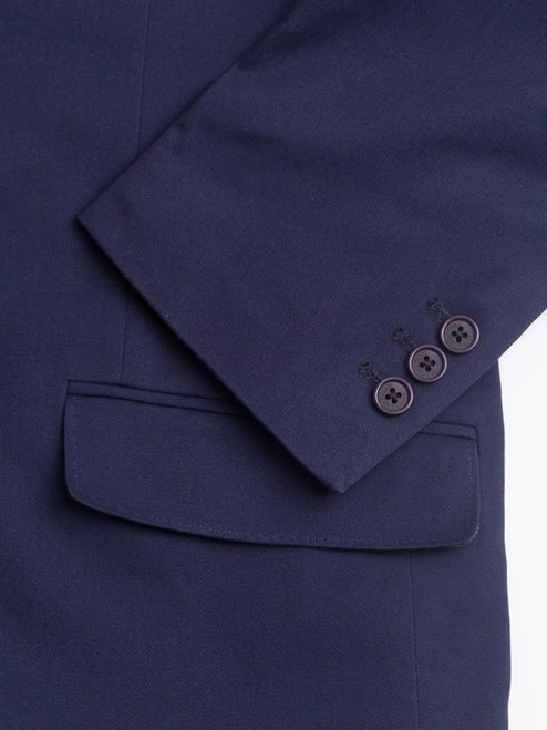 Working cuff on Navy Chino Suit